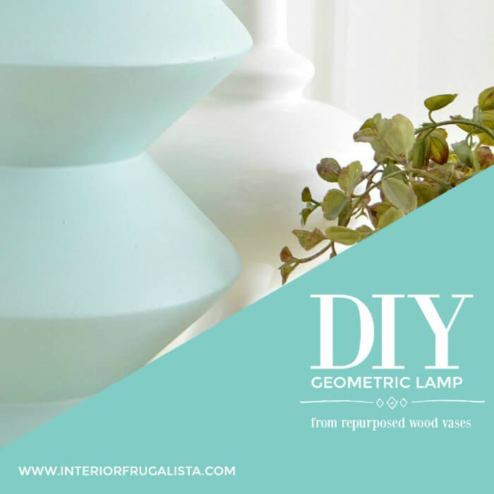 Repurposed Wood Vase DIY Geometric Lamp