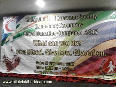 Blood Donation Campaign 2017 Sibu, Sarawak, Blood Donation, Kempen Derma Darah