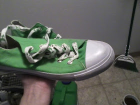 lime green converse style sneakers
