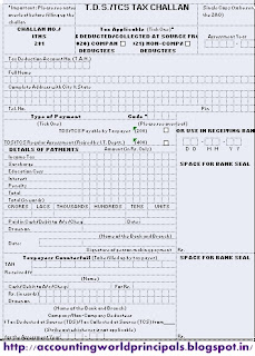 Fill TDS or TCS Challan 281