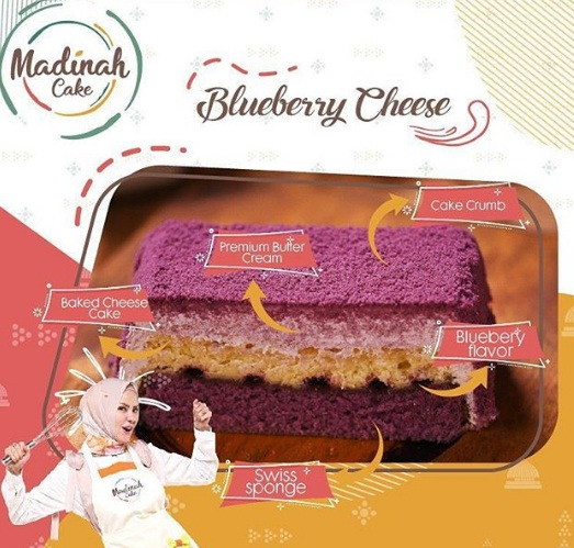 blueberry cheese madinah cake