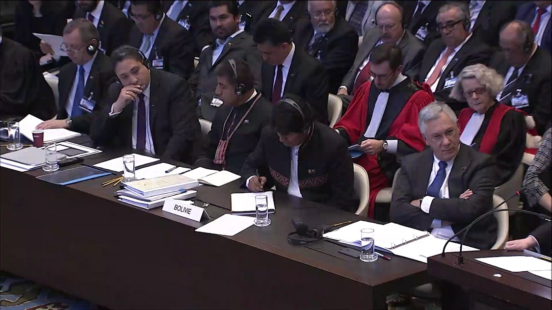 En abril de 2013 Bolivia presentó su demanda marítima ante la La Haya / CIJ