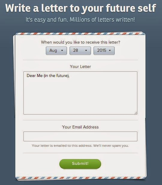 OhLife Write a Letter to your Future Self