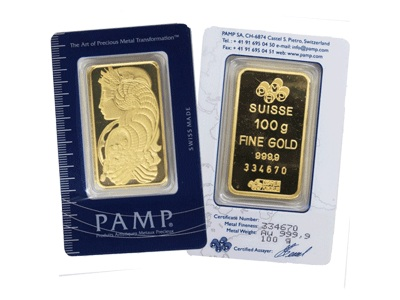 My Blue Tag Pamp Suisse Minted Gold Bar