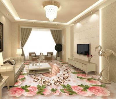 Lovely 3D Epoxy Floor For Spectacular Living Room