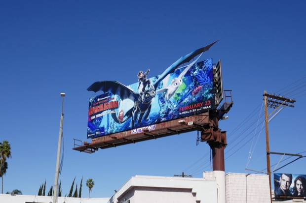 How to Train Your Dragon 3 movie billboard