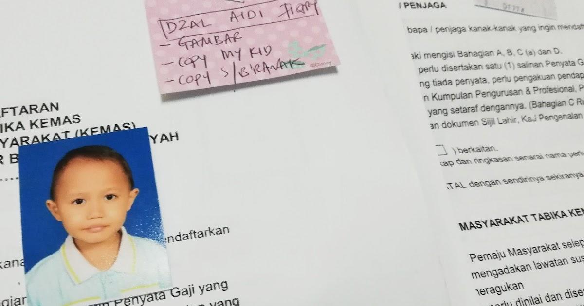 Settled Daftar Anak Untuk Tabika Kemas 2019 Azlinda Alin Malaysian Parenting Lifestyle Beauty Blogs