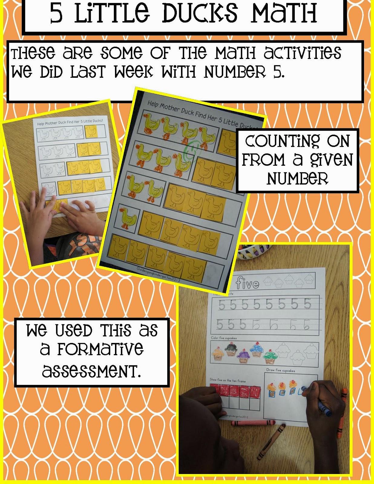 Golden Gang Kindergarten 5 Little Ducks Math
