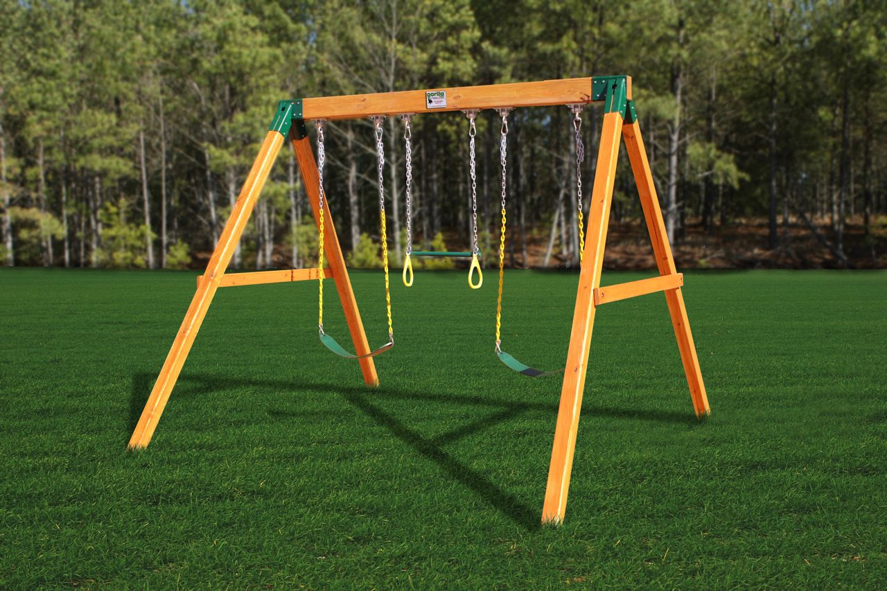 Playgrounds Net Blog Featuring A Free Standing Swing Set