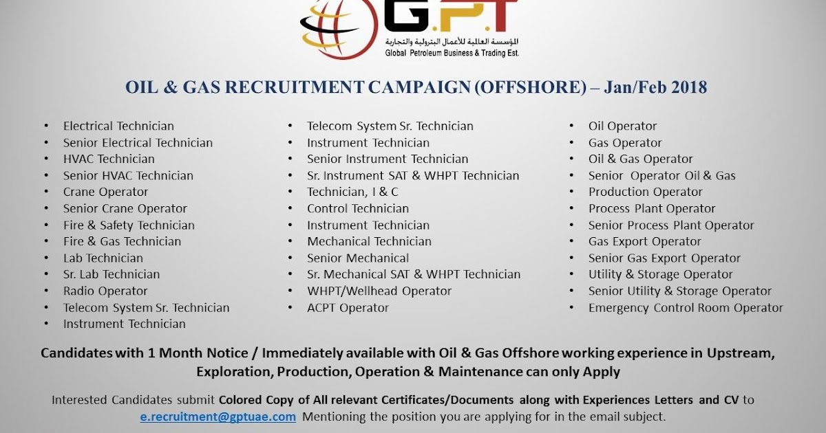 Oil and gas job vacancies: UAE OIL &GAS OFFSHORE 28/28 and 42/21
