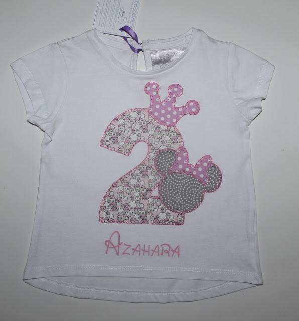 camiseta cumpleaños 2 años minnie mouse