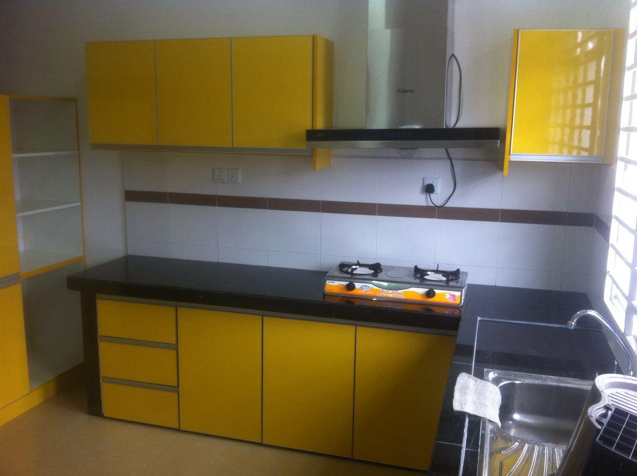 Untuk Pengetahuan Semua Warna Kuning Pernah Di Pilih Oleh En Aidil Dari Shah Alam Anda Buleh Lihat Kabinet Dapur