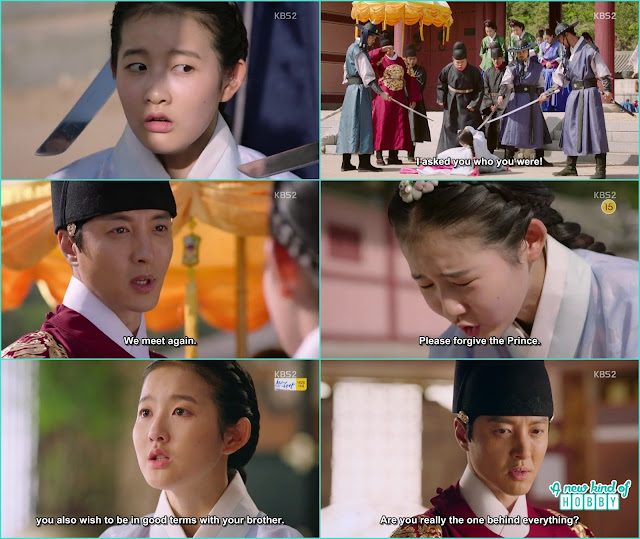 chae kyung again meet king in the palace she ask him to forgive prince yeok - Seven Day Queen: Episode 4 korean Drama