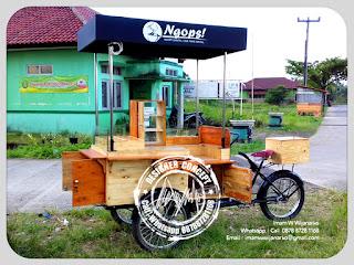 produksi gerobak sepeda kopi keliling