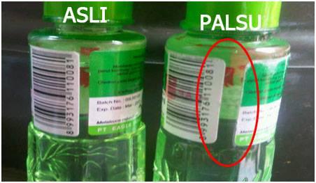 Lebih Cermat saat membeli Minyak Kayu Putih ASLI atau Palsu, Perbedaanya Tipis.