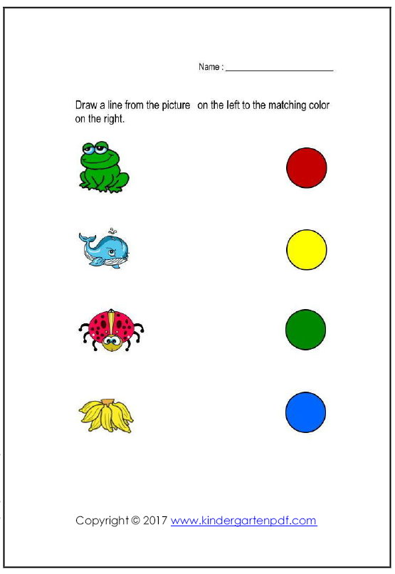 Free Nursery Worksheets: Color Recognition Worksheets For Toddlers ...