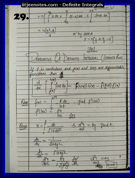 definite integrals notes8
