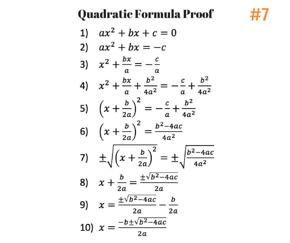 prep ng quadratic formula proof