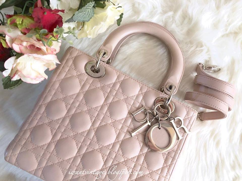 Lady Dior Lambskin Medium-Soft Pink ec7f67788ffd2