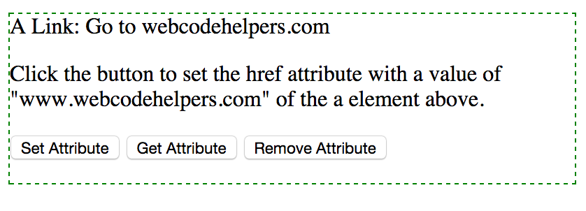 Javascript SET, GET and REMOVE Attribute With Example ~ Web CodeHelpers