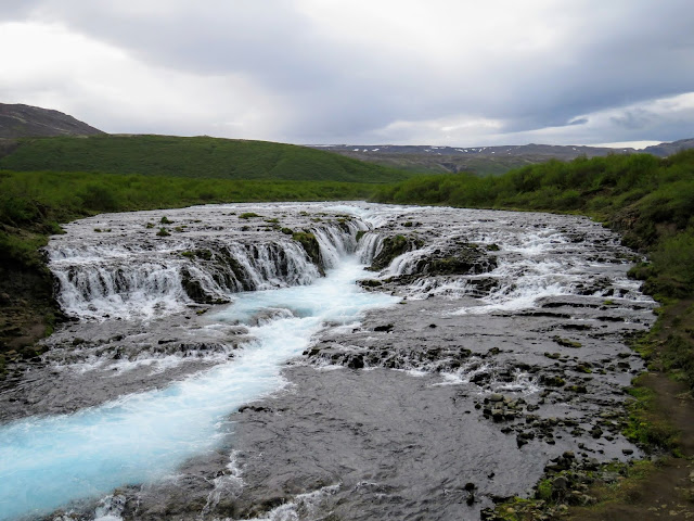 Self-drive around Iceland's Golden Circle: Brúarfoss Waterfall