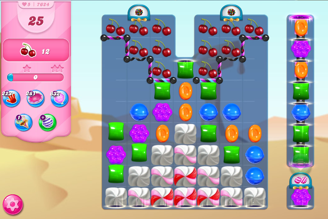 Candy Crush Saga level 7624