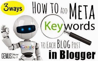 Thêm Meta Keywords Vào Bài Viết Trên Blogger