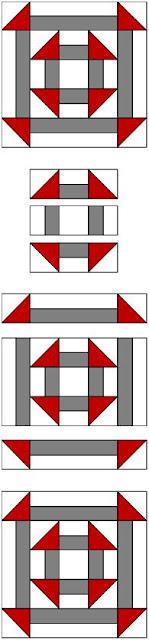 Double Churn Dash quilt pattern