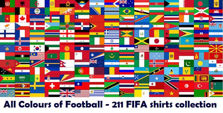 All Colours of Football - Simone Panizzi's collection of 211 FIFA national teams shirts