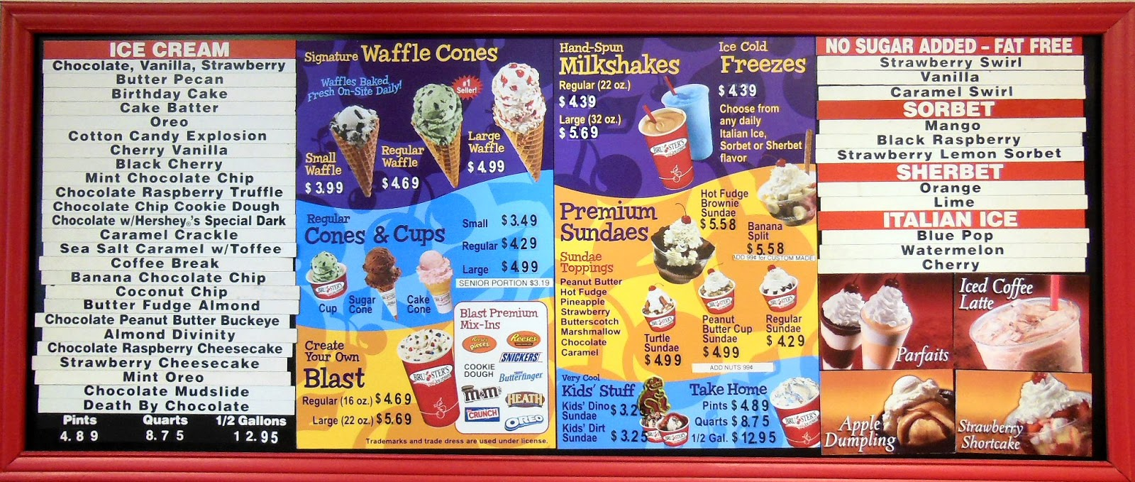 Bruster's Application Employment at Bruster's. Bruster's Ice Cream is an American chain of ice cream parlors. The company was founded in by Bruce Reed, in Bridgewater, Pennsylvania.