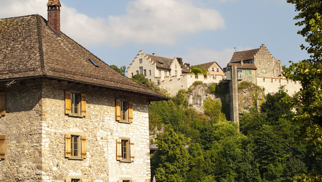 Great Places to Visit Near Zurich by car: Schloss Laufen above Rhine Falls