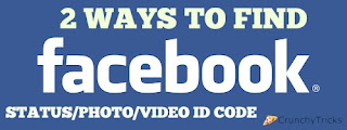 find facebook status video photo id code