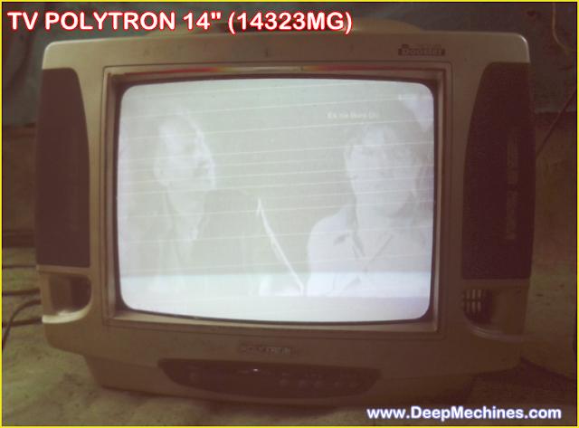 Gambar TV Polytron  14-Inc (14323MG) pada Layar muncul Blanking