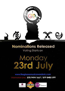 Ghana UK Awards 2018 Nominees List