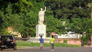 Statue in Sao Tome