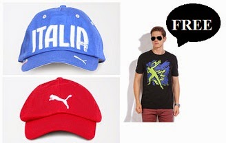 Get PUMA Round Neck T-Shirt absolutely FREE on Every Purchase of PUMA Cap
