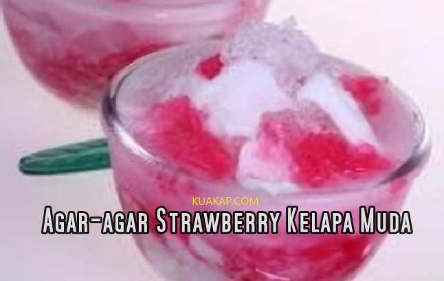 Resep Minuman Agar-Agar Strawberry Kelapa Muda Buat Buka Puasa