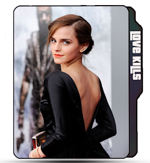 Preview of Emma Watson, Hollywood actress, celebrity, backless dress, photo, hot pose.