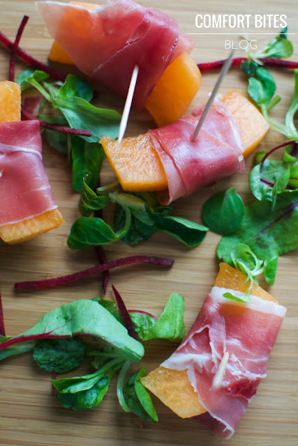 Serrano Ham and Melon Party Appetisers