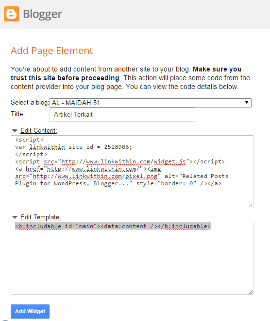 skrip related posts blogger widget linkwithin