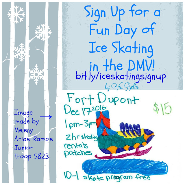 Sign Up for a Fun Day of Ice Skating in the DMV, Girl Scouts, Troop 5823, Ice Skating, Washington DC, Maryland, Virginia, DMV, deals, kids, scouts, girl scouts, boy scouts