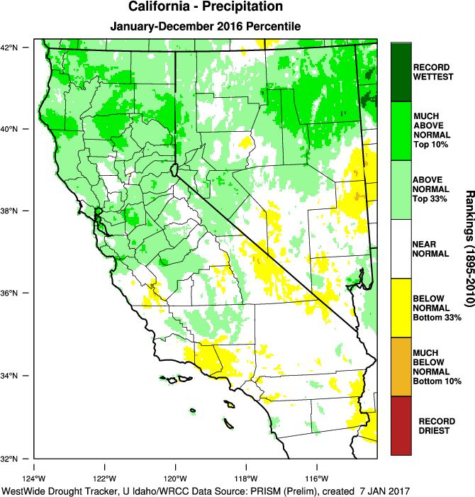 Most Of The Southern California And The Southwest U S Were Below Normal For Rainfall Though Northern California And Southern Nevada Were Above Normal