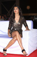 Pooja Hegde looks glamarous in deep neck sleevless short tight golden gown at Duvvada Jagannadham thank you meet function 066.JPG