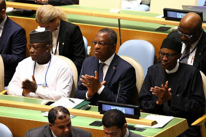 Photos: Pres. Buhari attends UN High Level Summit on Refugees and Migrants
