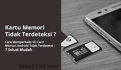 Memperbaiki SD Card Memori Android Tidak Terdeteksi - sd car not detected