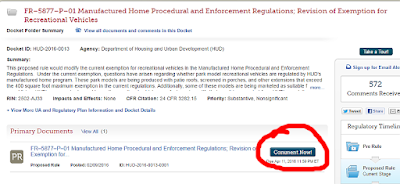 regulations.gov website how to comment on docket