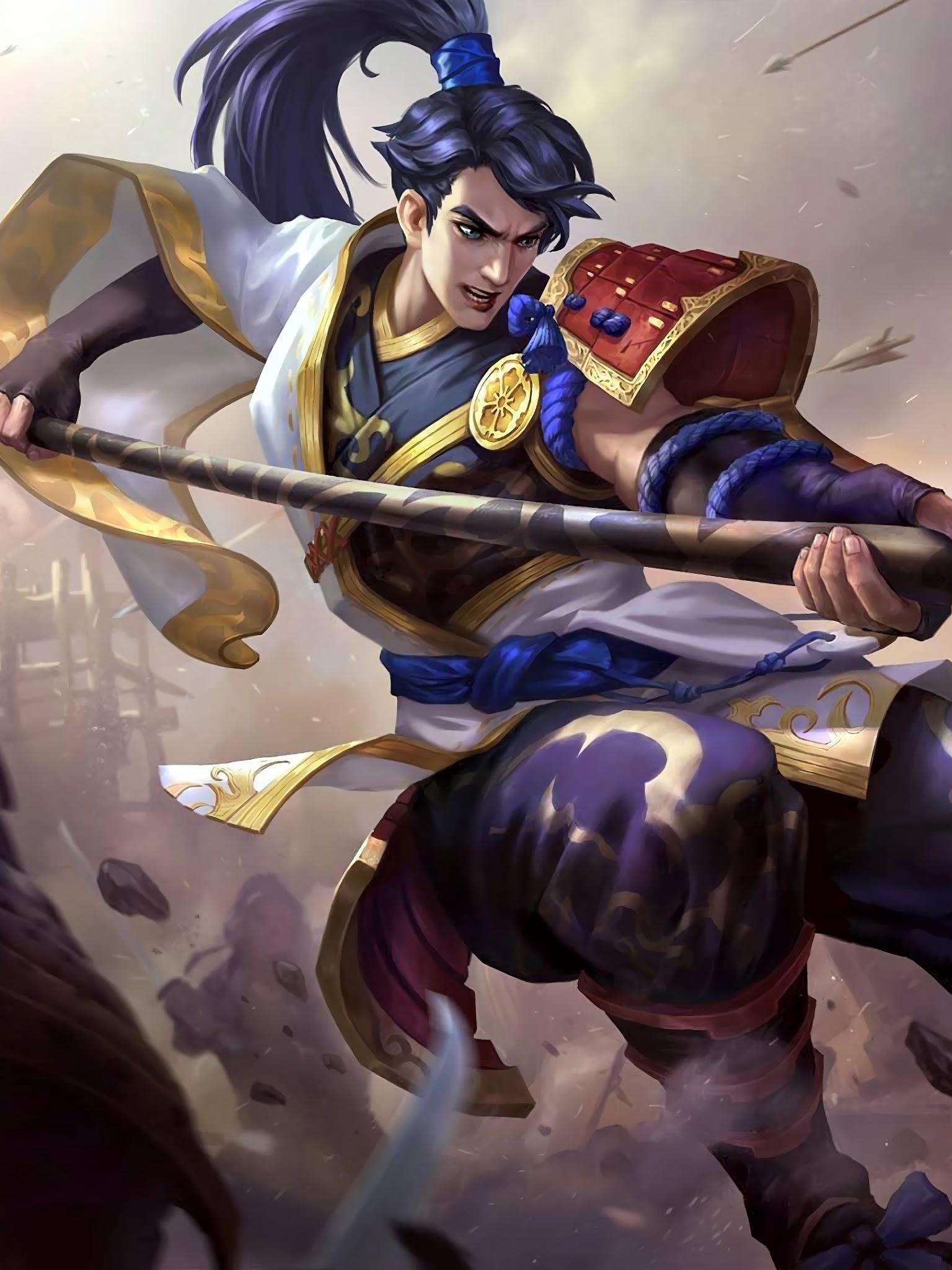 Zilong Eastern Warrior Skin Mobile Legends 4K Wallpaper 165