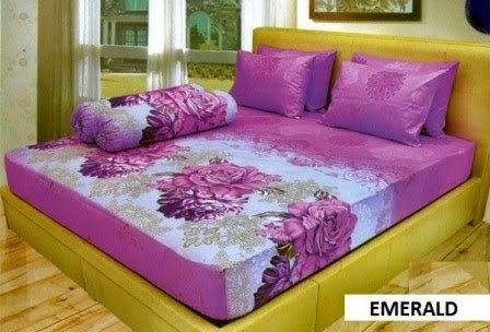 Sprei Lady rose motif Emerald