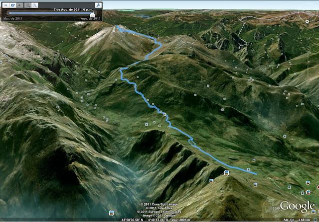 Rutas Montaña Asturias: Mapa de la Ruta al Canto Cabronero