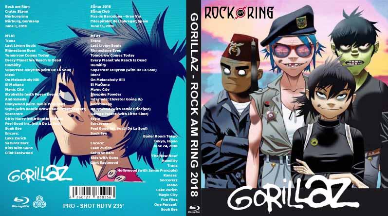 BLURAY LIVE CONCERT: Gorillaz - Rock am ring 2018